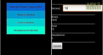 Binary octal hex converter