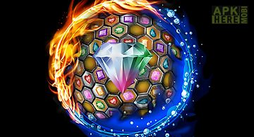 Jewels blitz gold hexagon