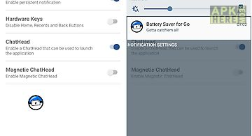 Battery saver for go free