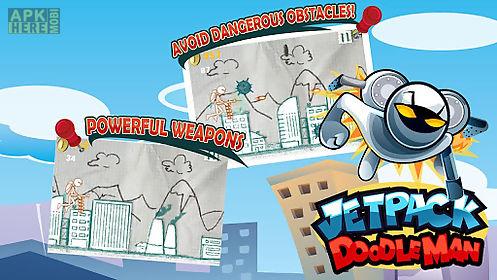 jetpack doodle man