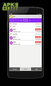 mybills lite - bills manager