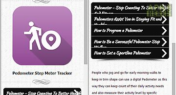 Pedometer step meter tracker