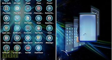 Tsf shell theme blue light hd