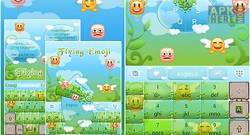 Flying emoji go keyboard theme