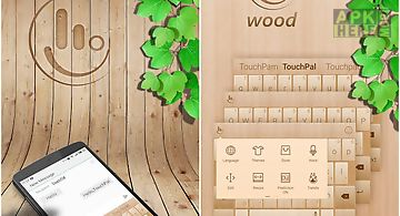 Touchpal natural wood theme