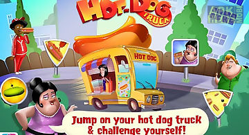 Hot dog truck:lunch time rush!