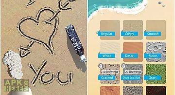 Sand draw sketch: drawing pad