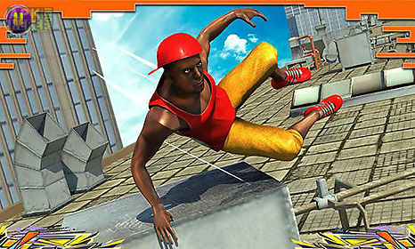 city parkour sprint runner 3d