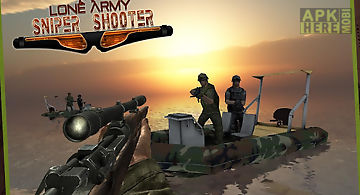Lone army sniper shooter