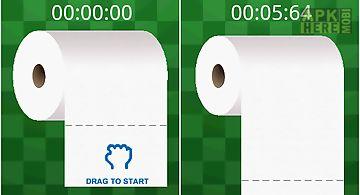 Drag toilet paper