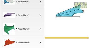 Origami paper plane