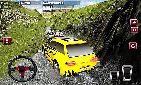 offroad hill racing car driver