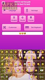 photo keyboard with emoticons