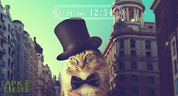Cute theme-feline gentleman-