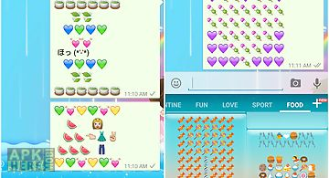 Food art - emoji keyboard