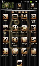 my gold theme go launcher ex