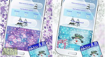 Winter keyboard themes