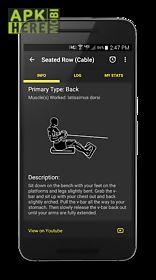 workit gym log workout tracker