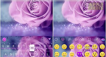 Dreamlike rose ikeyboard theme