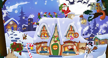 Kids christmas snow globe