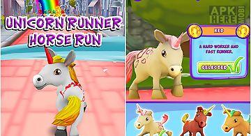 Unicorn runner 3d: horse run