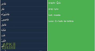 Arabic turkish dictionary free