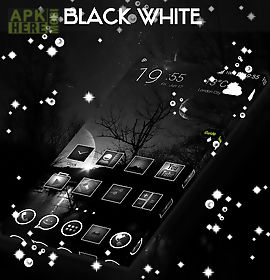 black&white go launcher theme