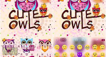 Cute owls emoji keyboard theme