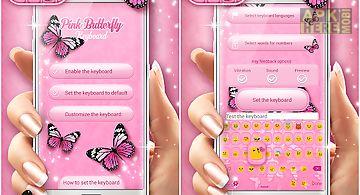 Pink butterfly keyboard