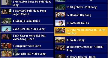 Top hindi video songs (free)