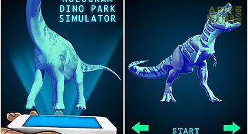 Hologram dino park simulator