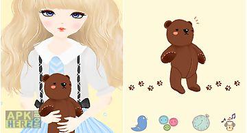 Lovely girl go launcher theme