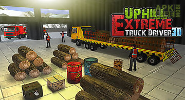 Uphill extreme truck driver 3d