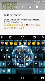 earth day emoji keyboard theme