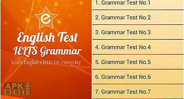 Ielts grammar test