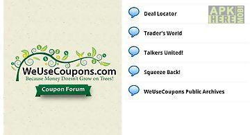 Weusecoupons coupon forum