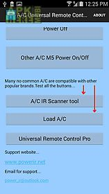 a/c universal remote control