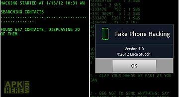 Fake phone hacking