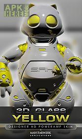 poweramp skin yellow 3d