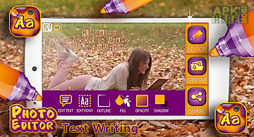 Photo editor text writing