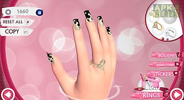 Cute nail art designs game 3d