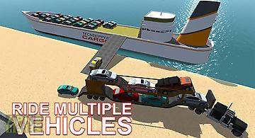 Cargo ship car transporter sim