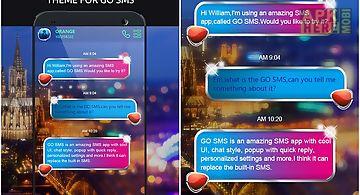 Go sms pro beauty night theme