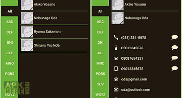 Phone book contacts (earth)
