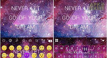 Cosmos emoji keyboard colors