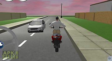 Free bike driving school 3d