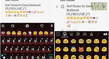 Red love emoji keyboard