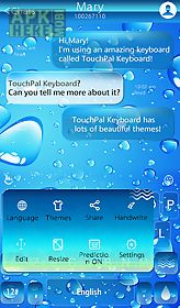 Blue water drop keyboard theme for Android free download at