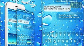 Water theme for emoji keyboard for Android free download at