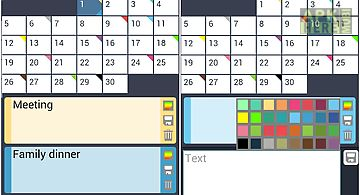 Calendar with colors